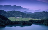 日月潭與農田,台灣南投 (Sun Moon Lake and Farmland in NanTou, Taiwan)