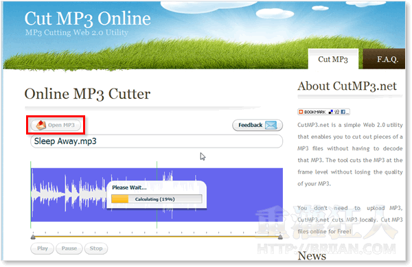 01-Online MP3 Cutter 線上MP3分割工具(製作手機鈴聲)
